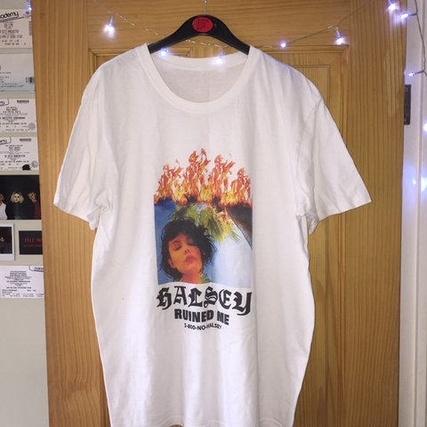 "06f6b1a89a9e75 ""Halsey Ruined Me"" tee! Hardly worn and still in great mix - Depop"