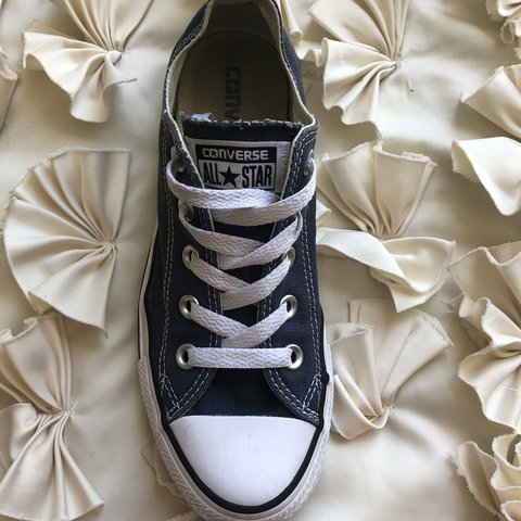 Unisex Good Condition Navy Blue Converse All Star 6 in and 4 - Depop 9a252d93a