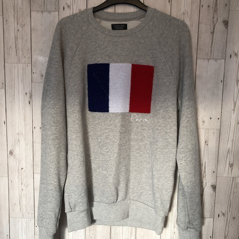 74411bc82 Men's size small Zara grey Paris Jumper, Kenzo alternative. - Depop