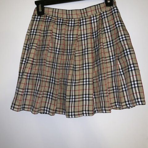 379441e8a5 @jforles. 4 months ago. United States. Tan black and red Plaid pleated  schoolgirl skirt