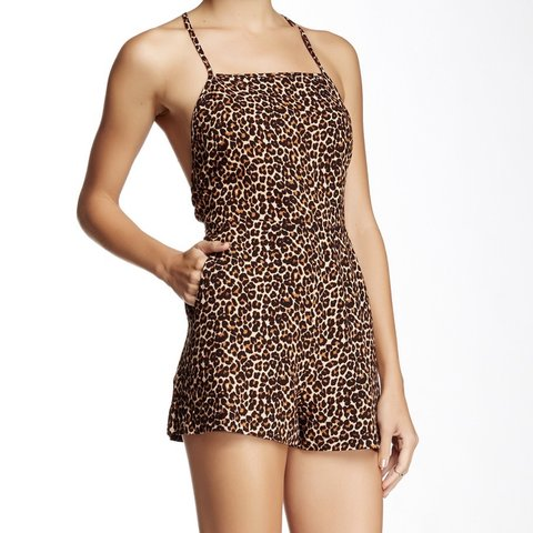 bea0d5787eb Cheetah romper brand new. unfortunately was to small for a - Depop