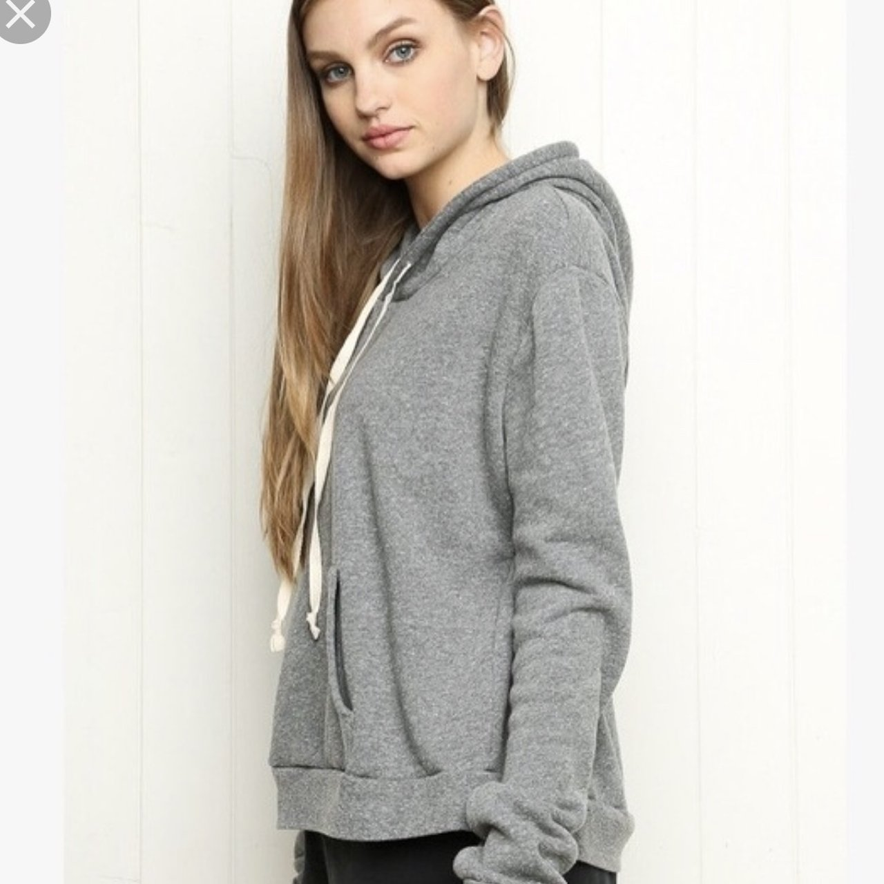 04f8983bf65a4 Cute oversized gray light hoodie from brandy Melville 💕 no - Depop