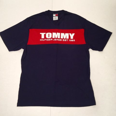 7aca22b8 @retroteevault. 7 months ago. Wakefield, United States. Vintage Tommy  Hilfiger 90s Tommy Jeans T Shirt.
