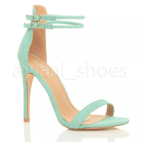 717b1754e71 Pastel mint green barely there sandal heels. SO don t wanna - Depop