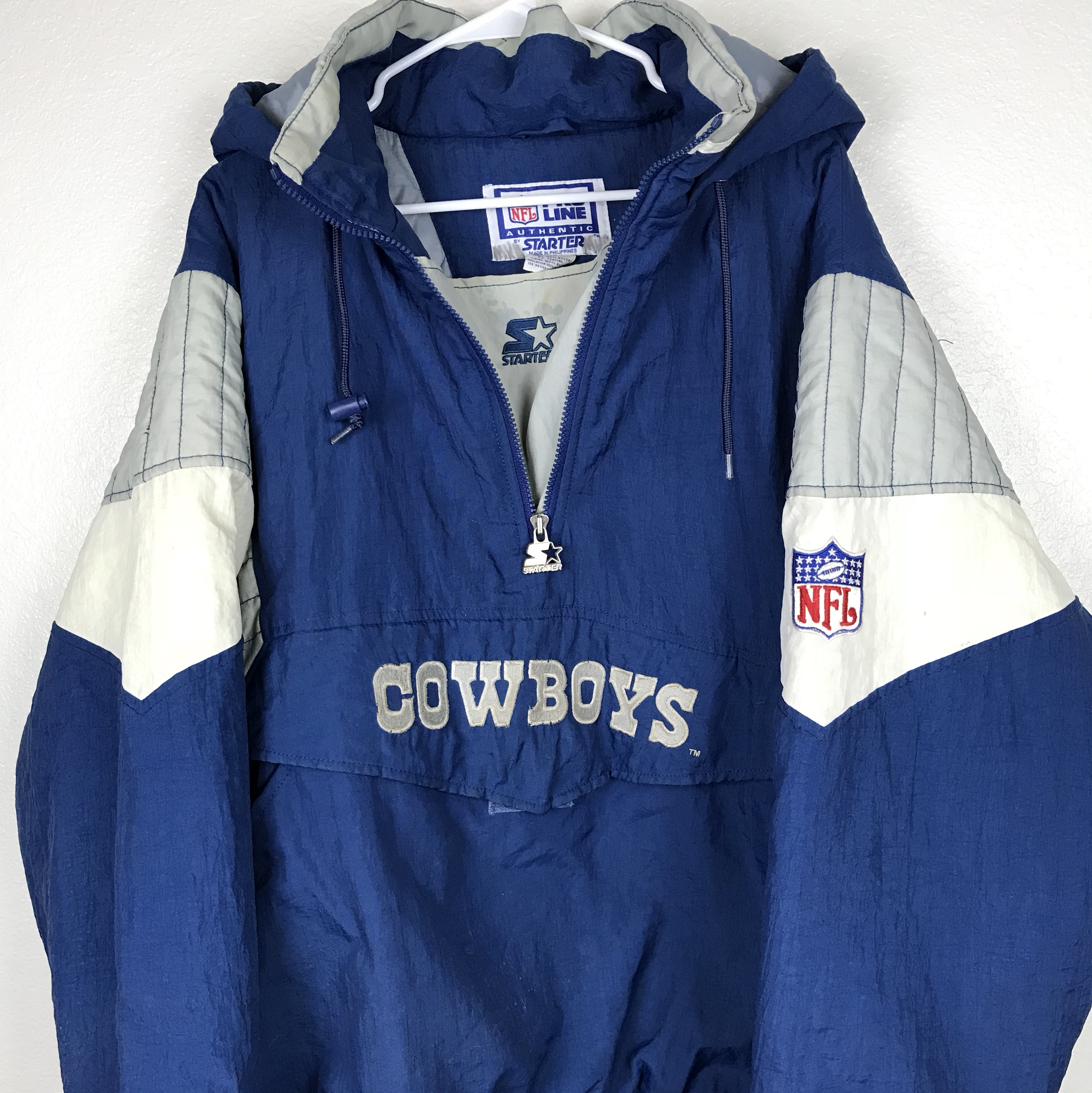 sneakers for cheap cb81b 8c6a3 Dallas Cowboys 90s Starter Vintage Heavy Windbreaker ...