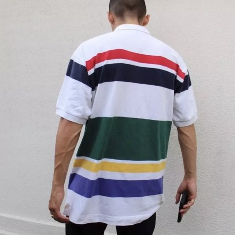3cdd0b64b @vintagefinder69. last month. Edinburg, United States. Nautica Vintage  Color Block 90s Striped Polo Shirt Adult Large ...