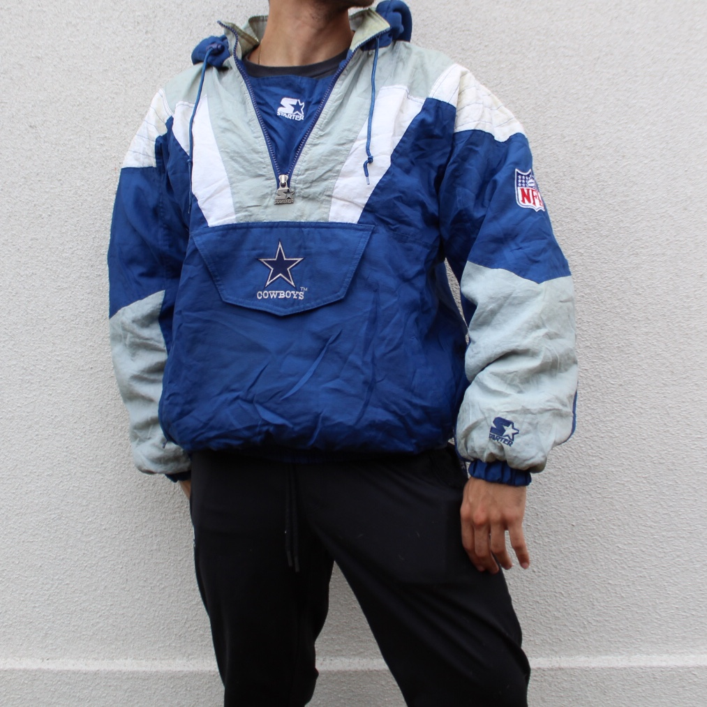 new arrival a3f9f e3c20 Dallas Cowboys Vintage 90s Heavy Insulated Starter... - Depop