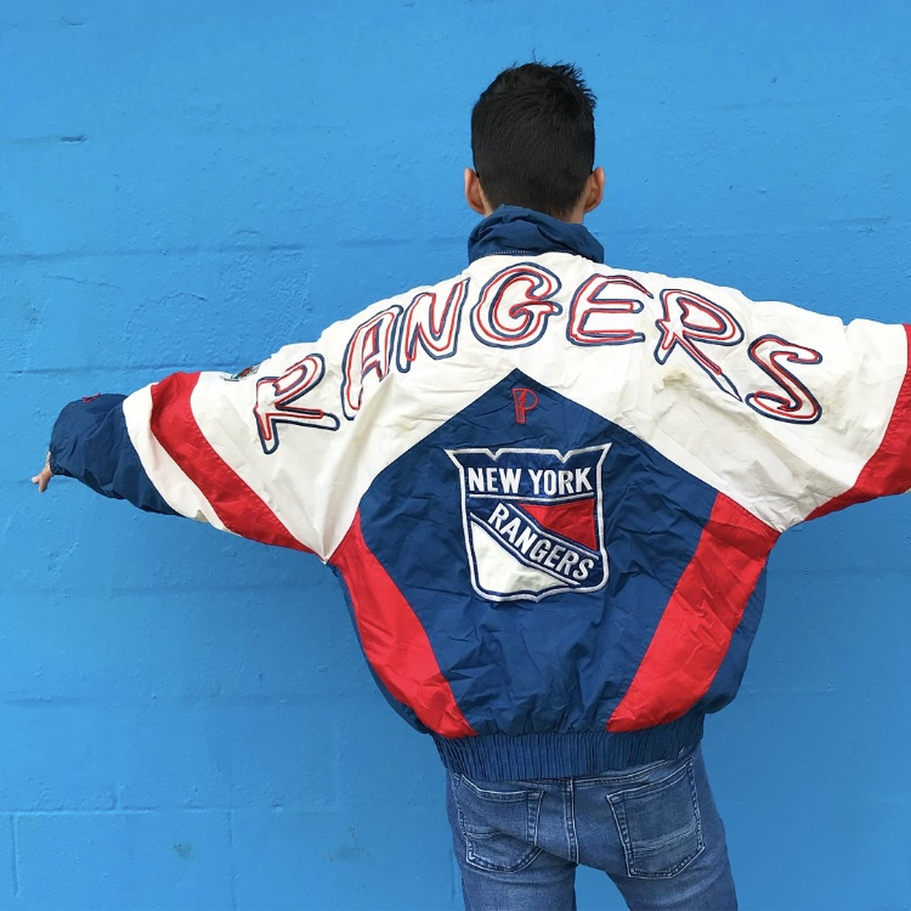 New York Rangers Vintage NHL Pro Player Insulated Jacket Has - Depop e72d8050d