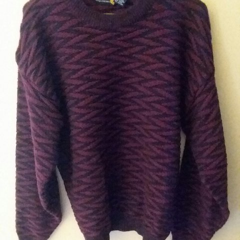 Vintage 80s Abstract Sweater - Soft   Cozy - Sassoon