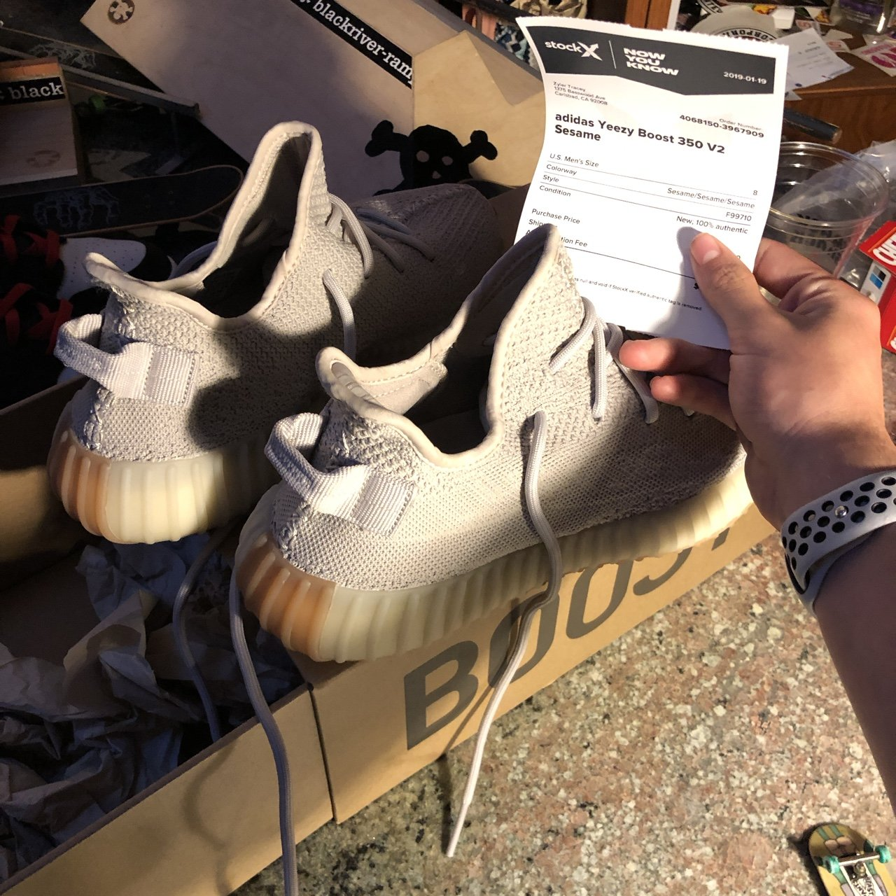 06b94a7ed Yeezy Boost 350 V2 Sesame size 8! Purchased from stock x