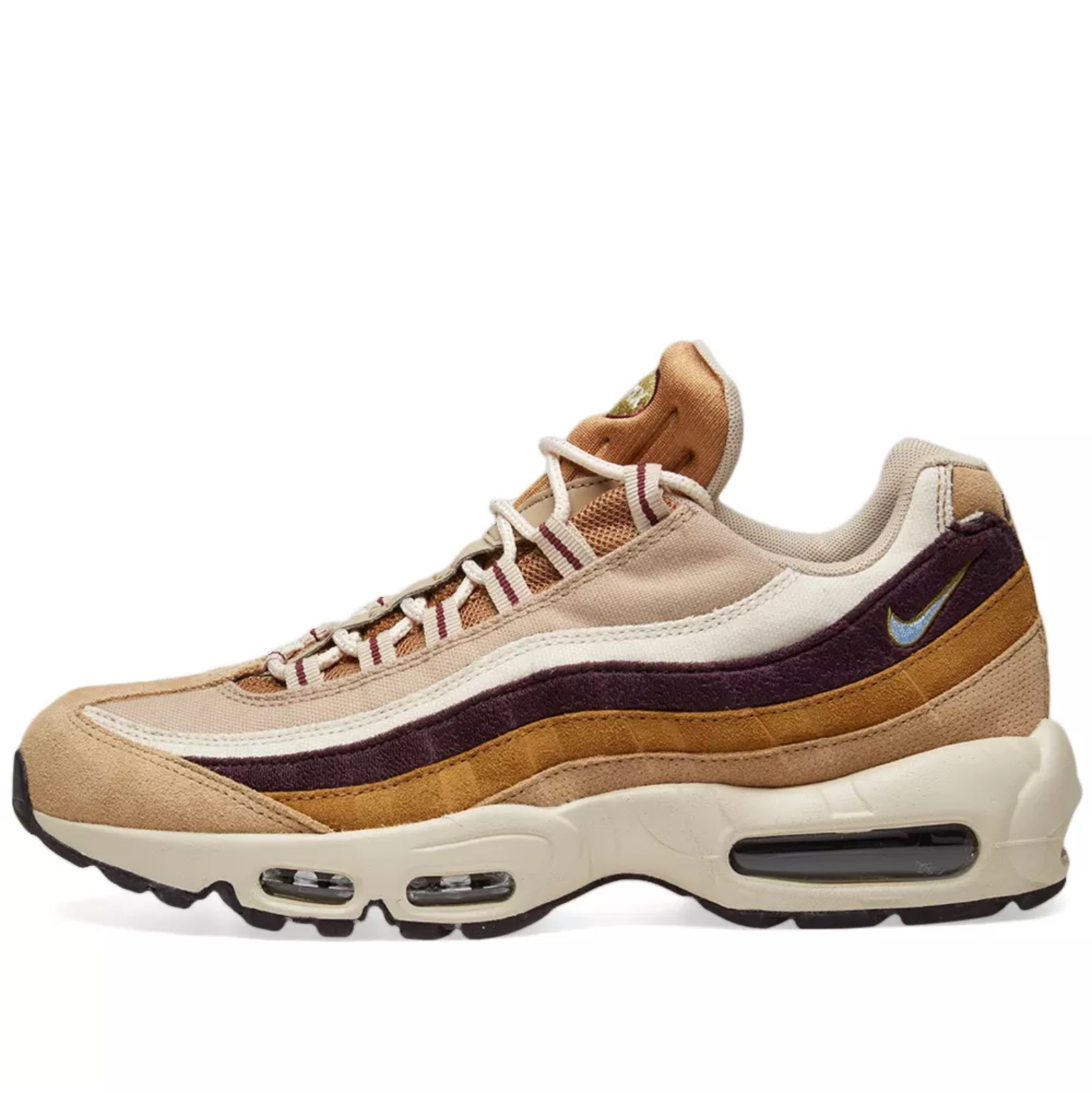 Nike Air Max 95 Premium 'Desert, Royal And Burgundy' Depop