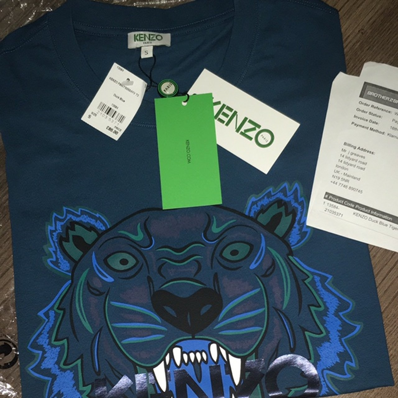 6bfc268a 100% authentic kenzo T-shirt comes with receipts and all - Depop