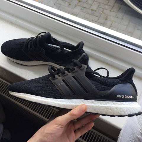 ed81659a68ff3 Adidas ultra boost 3.0 black white Great condition 9 10 OG - Depop