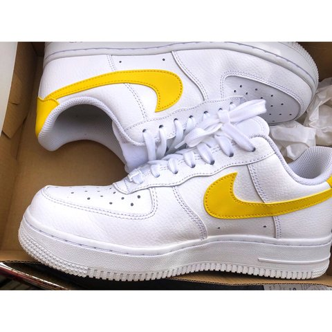 459ea0e054eba ... new zealand nike air force 1 low yellow tick in fab condition as i have  depop