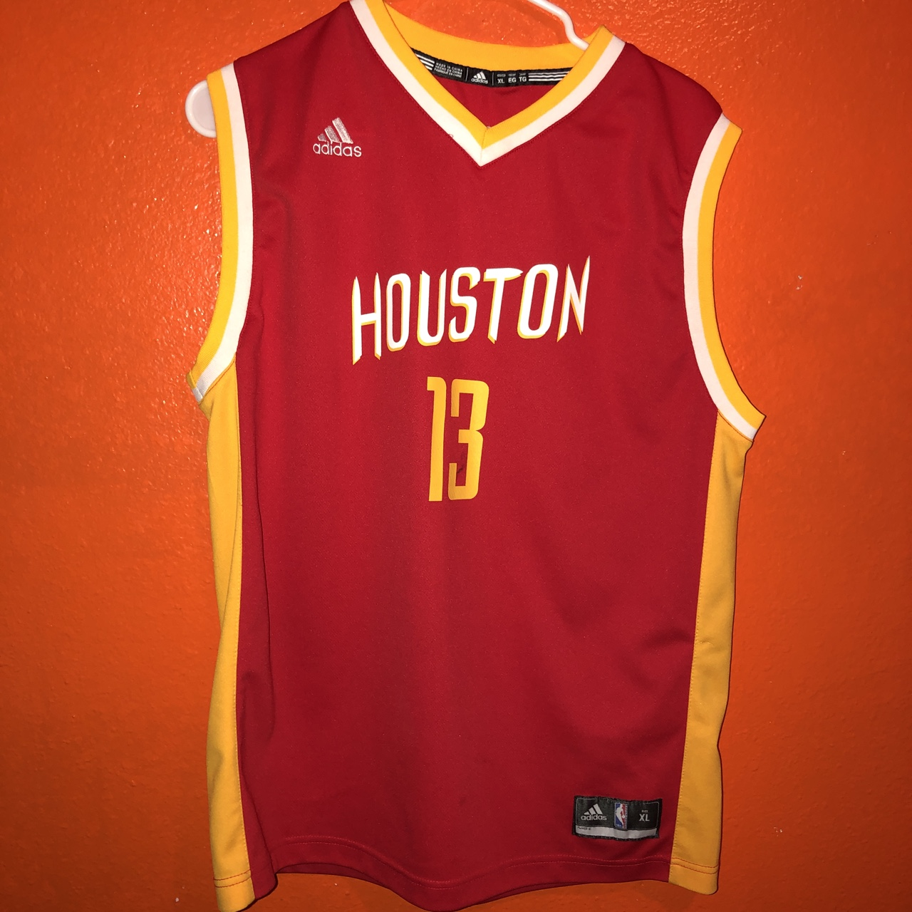 sports shoes 30478 60090 Adidas James Harden jersey Youth XL/ mens... - Depop