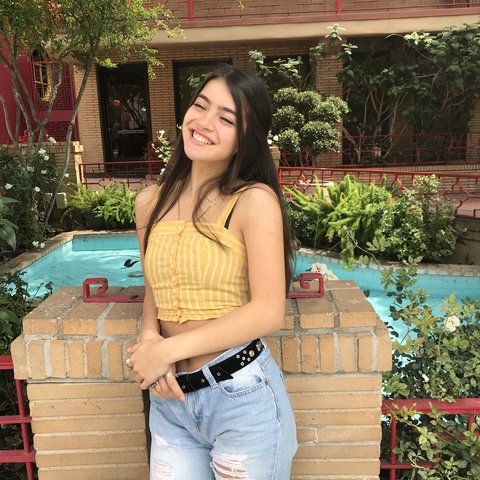 9c1fe933a1bf5f Yellow Tillys Stripped Crop top! Worn only on this photo and - Depop