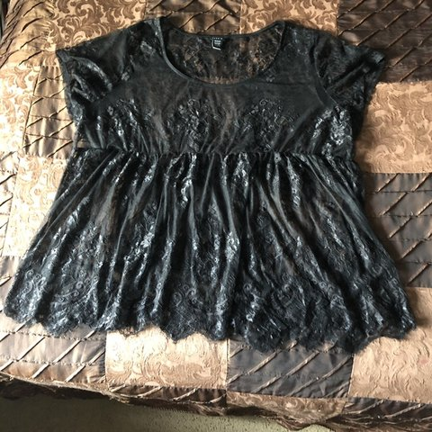 68b4caa39d7b7 @real_world. 4 months ago. Fairfield, United States. Torrid Black Lace Babydoll  Top Size 5x