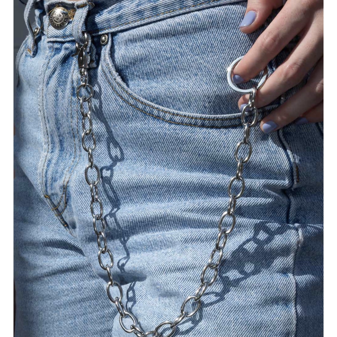 brandy melville silver pocket wallet chain NWT one size