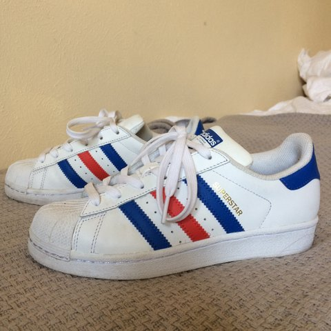 new arrival cffdb f368c  britstuff. 11 months ago. Austin, United States. Adidas red and blue  striped superstars ...