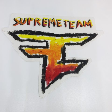 Faze Clan Supreme Team Sticker Fazeclan Stickers Supreme Depop