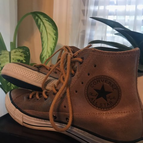 f01bb7a2c53163 brown leather high-top converse all-star sneakers !!! 8