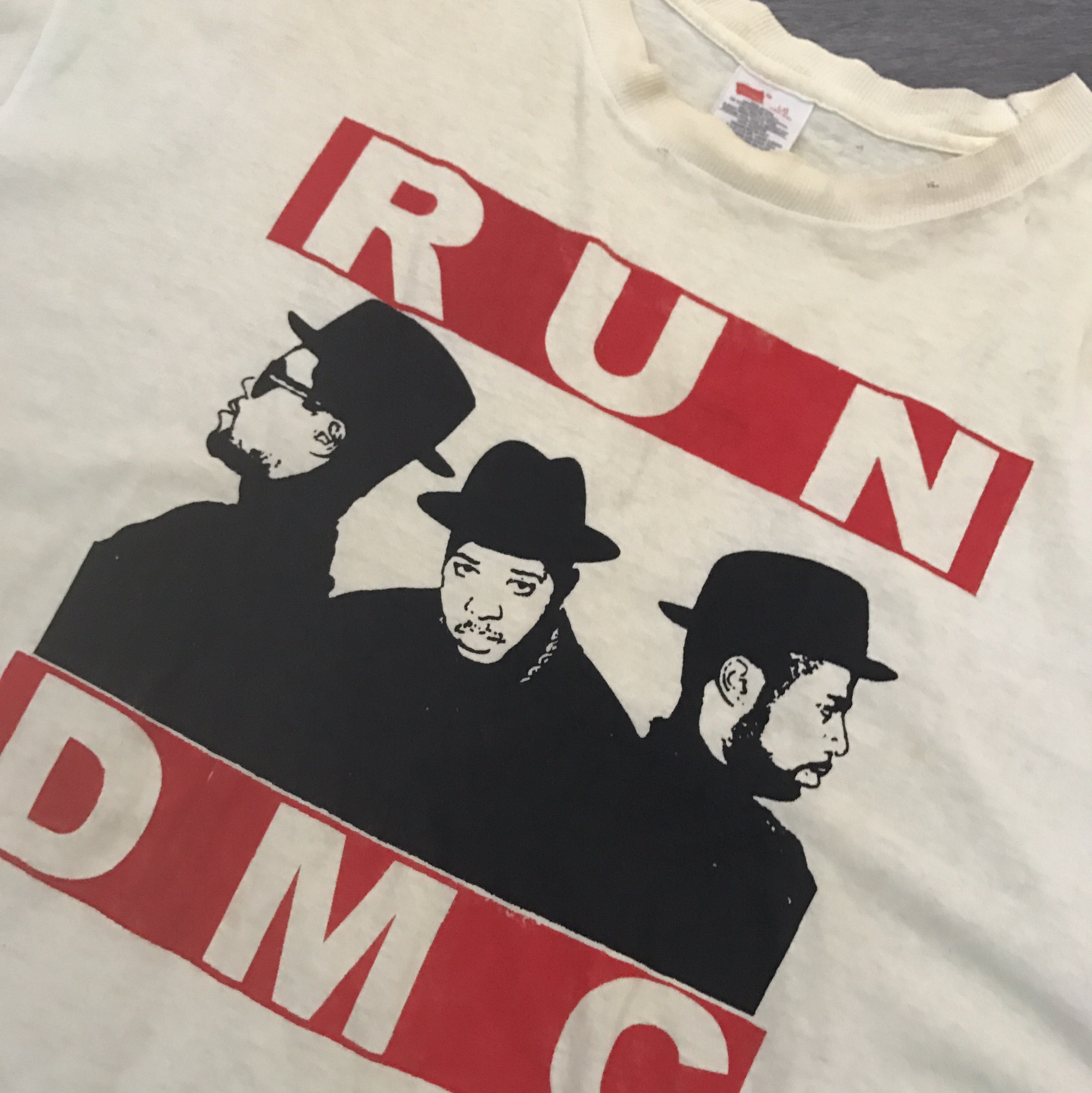 90's Hanes RUN DMC vintage shirt  Minor holes and    - Depop