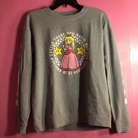 2ca8b402b1 Vans X Nintendo Princess Peach Women s Longsleeve Purchased - Depop