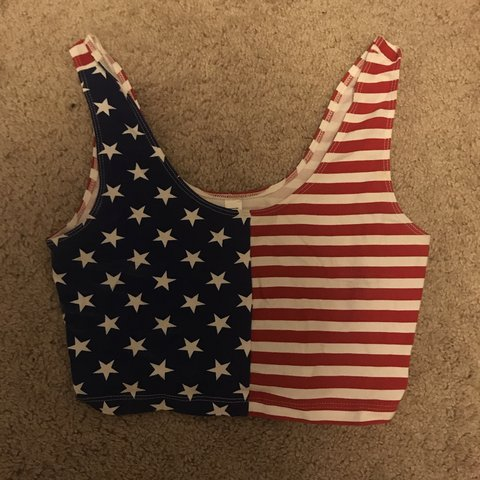 cc2659089d american apparel red white and blue american flag stars and - Depop