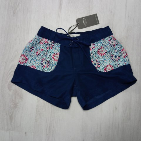 5ffde1c57c @nyddare2bdifferent. last year. Mablethorpe, Lincolnshire, United Kingdom. Fat  Face Navy and Pink Printed Board Shorts - Size 8 ...