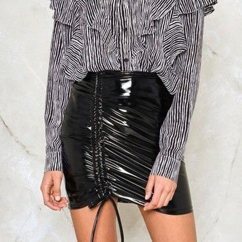 bf8df2d72 @kawaiiglitter. 4 months ago. Russellville, United States. Brand new nasty  gal never worn with tags vinyl mini skirt ...