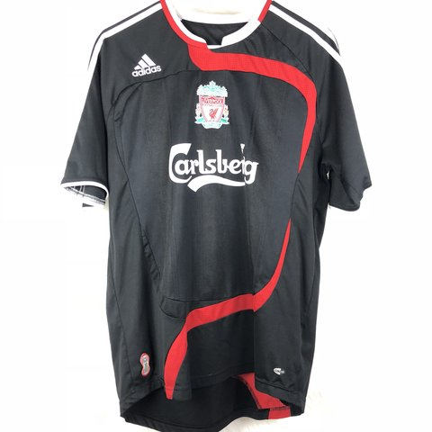 3b71bf3d4 @exploremoremom. 11 months ago. Cheney, United States. Carlsberg Liverpool  Football Adidas Soccer Jersey in black and red ...