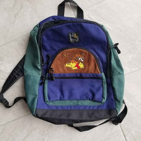 b9b227c5fcc WINNIE THE POOH Backpack Excellent condition (barely cute - Depop