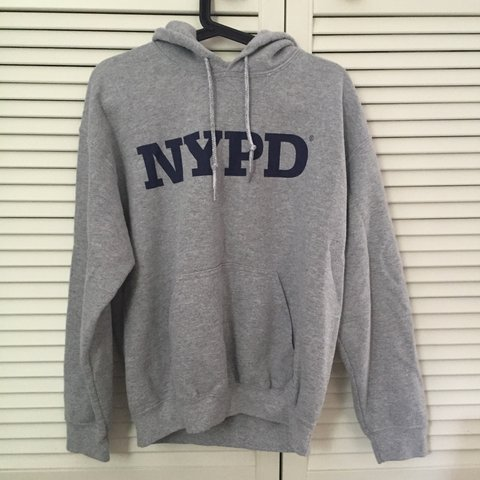 01d3ad678 @lookingforlewys. 3 years ago. United Kingdom. NYPD grey and navy jumper  hoodie ...