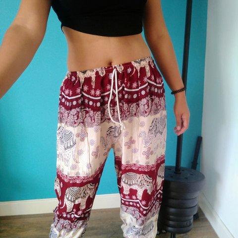 039506bf6808a Hippy Harem baggy trousers 3/4 length (approx. Length These - Depop
