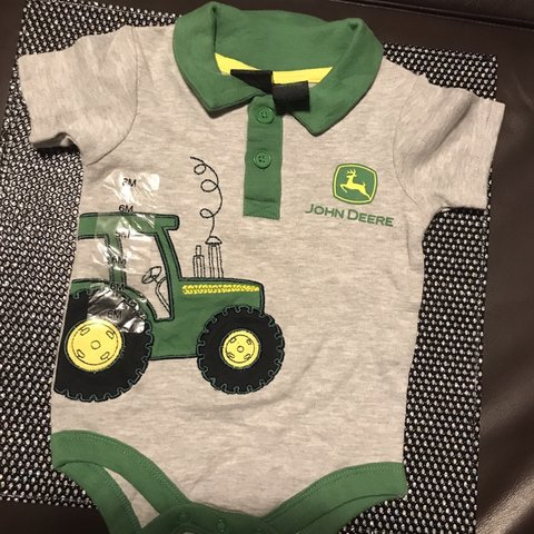 3212252a Brand new baby John Deere one piece outfit/jumper. Hang tag - Depop