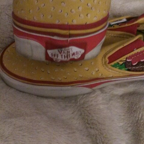 95fddd44904 Vans RARE VINTAGE Hamburger shoes! These are super rare and - Depop