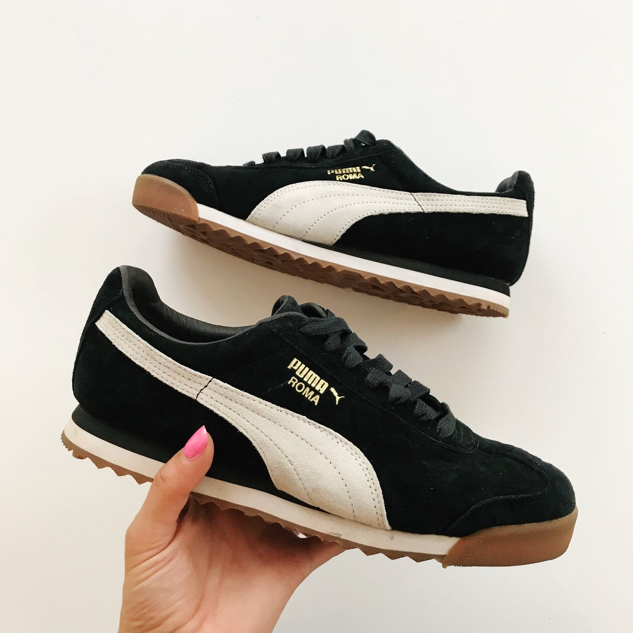 40e1d9d6a Puma Roma Suede Trainers in UK 5. True to size. Only worn - Depop