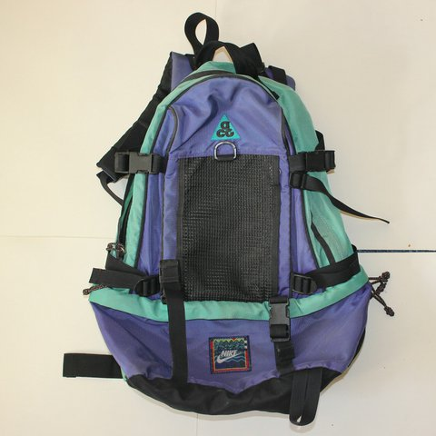 Vintage nike ACG backpack - loads of straps - straps the go - Depop 6129e71bb6971