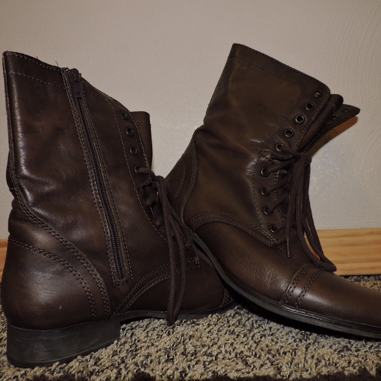 85b8fc95e26 ✨Sick brown leather Steve Madden