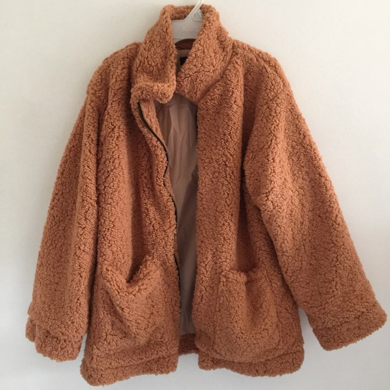 12caf84ff91a ON HOLD!!! Poopy Fluffy Jacket. Bought from AliExpress. Size - Depop