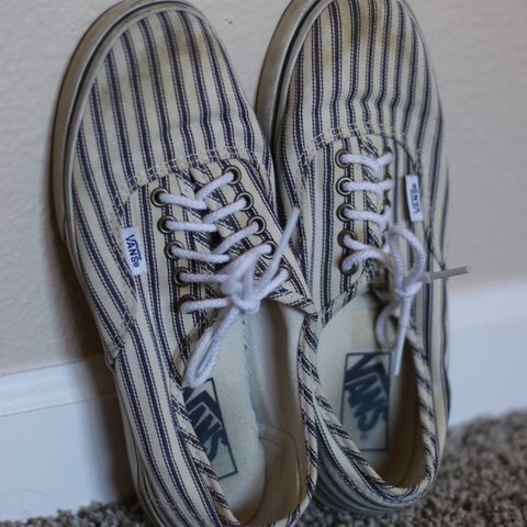 5a6d85d265 beach striped vans — thrifted  depop  haltertop  croptop - Depop