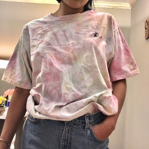 78c18dac @soniaalara. 15 days ago. Lilburn, United States. Champion tie dyed shirt!  Tied dyed by me, super cute and comfy t-shirt. Size large