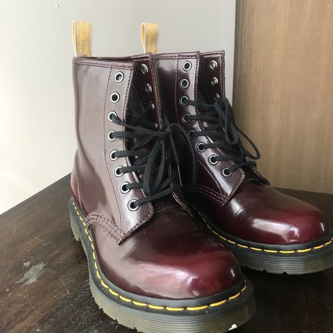 2d79d99d10 @amberbirkhead. last year. Louisville, United States. Dr. Martens vegan 1460  8-Eye boot. Cherry red, brush off leather.
