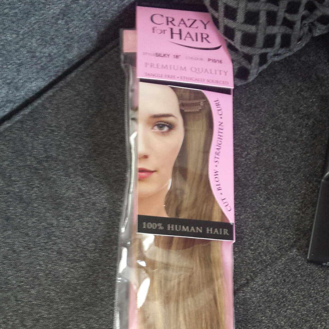 18\' 100% human hair extensions bought from