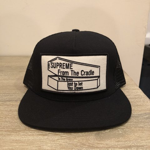 d4331ae2 Supreme SS15 FROM THE CRADLE TO THE GRAVE 5-panel mesh back - Depop