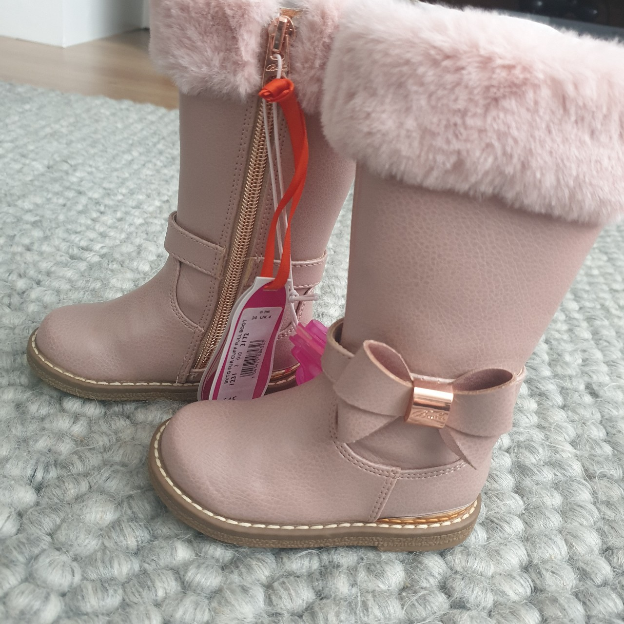 Ted Baker/ baby Baker boots with fur