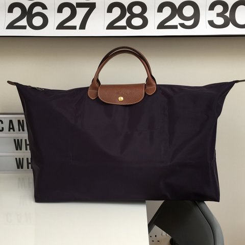78bcbd6e5c1c @aischa. 3 years ago. London, UK. Longchamp Le Pliage XL Travel Bag ...