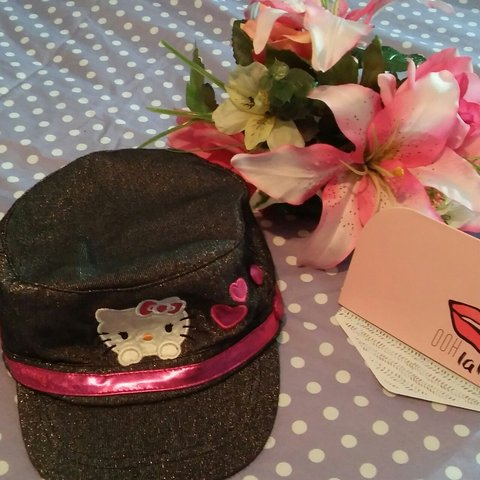 de7fee089344e Hello Kitty hat. Great condition. One size fits all. Cute 4 - Depop