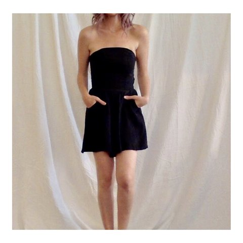 e2657d5d black romper by JAGGER size small romper, shorts, flowy, to - Depop