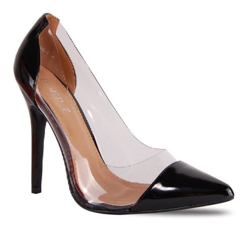 b416425fdd New perspex heels black, nude available. Very classy and All - Depop
